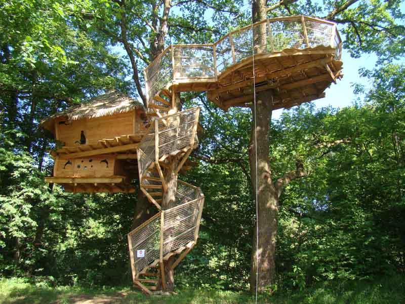 Baumhaus Frankreich übernachten im baumhaus